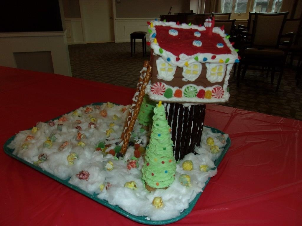 A gingerbread tree house design.